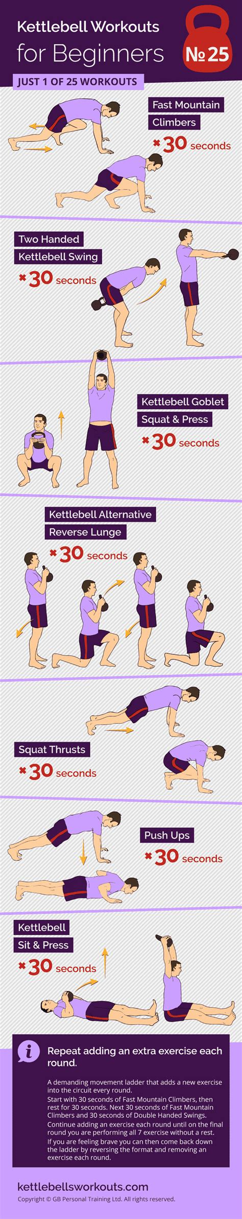kettlebell ladder workout movement monster exercises workouts beginners handed