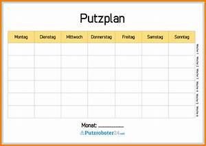 5 putzplan excel vorlage avant trash for Putzplan excel