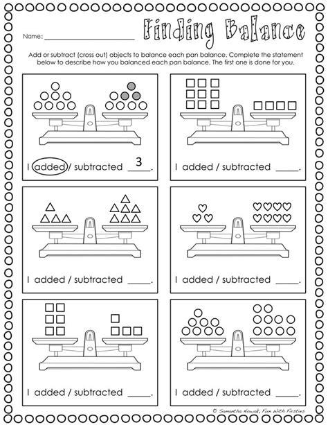 balancing equations print go worksheets for