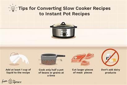 Pot Cooker Slow Instant Recipes Convert Conversion