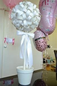 Topiari pour centre de table blanc pour bapteme ensuite for Chambre bébé design avec centre de table fleurs pour anniversaire