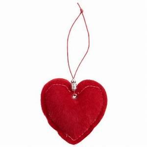 Fausse Fourrure Rouge : coeur d coratif fausse fourrure rouge les 2 achat coeur rouge ~ Teatrodelosmanantiales.com Idées de Décoration