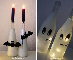 Deko Mit Flaschen : s e halloween bastel ideen mit flaschen pink dots partystore deko blog ~ Frokenaadalensverden.com Haus und Dekorationen
