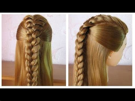 tuto coiffure tresse facile coiffure simple  rapide