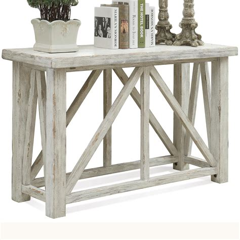 aberdeen sofa table with block by riverside furniture