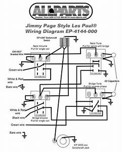 Wiring Kit For Gibbson Jimmy Page Les Paul Complete W