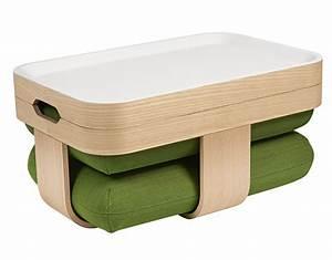 Table Basse 3 Pieds : table basse mister t transformable en pouf et repose pieds vert made in design editions by ~ Teatrodelosmanantiales.com Idées de Décoration