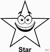 Coloring Star Shape Cartoon Stars Pages Face Outline Clipart Printable Five Shapes Clip Drawing Shooting Pointed Preschoolers Point Graphics Geometry sketch template