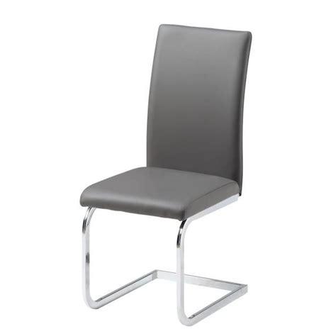 chaise pas cher grise ensemble table à manger 6 chaises en pvc gris