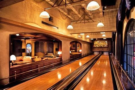 Big Home Bar by 30 Suggestions For Home Installed Bowling Alley Lanes