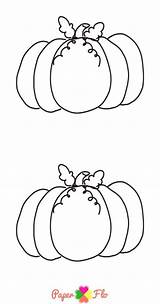 Pumpkin Coloring Printable Easy Paper Flo Designs Drawing Paperflodesigns Sheets sketch template