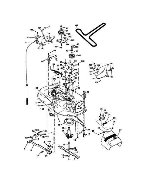 craftsman lt1000 mower deck schematics best site wiring