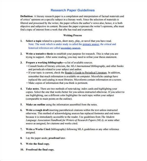 research paper outline template  format   research paper