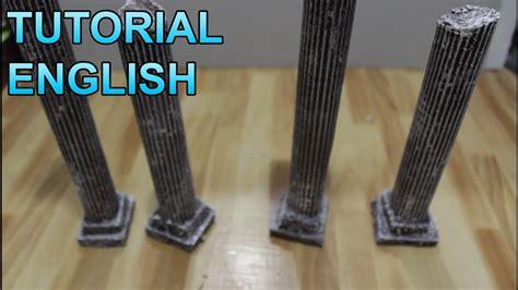 diorama props  greek pillars youtube