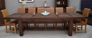 Kendo solid walnut dining room furniture extra large