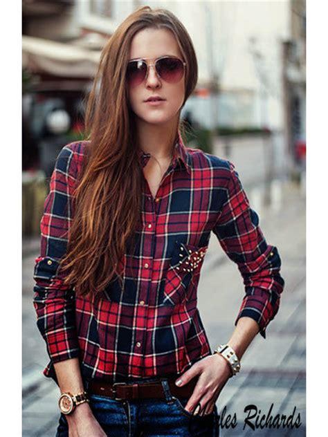 Blusas de cuadros roja - Buscar con Google | Estilo | Pinterest | Moda Clothes and Boho