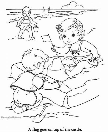 Coloring Beach Pages Printables Printable Sheets Summer