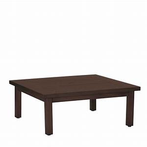 club aluminum square coffee table with patio umbrella hole With square outdoor patio coffee table