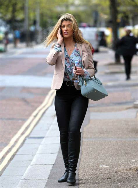 Amy Willerton Casual Style – Leaving the ITV London ...