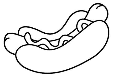 Hot Dog Coloring Page Eskayalitim