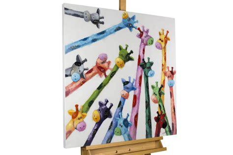 Acryl Gemälde 'GIRAFFEN MODERN BUNT'
