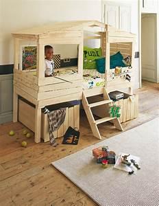 Lit Maison Enfant : lit cabane 90x200cm woody wood lit cabane pinterest ~ Farleysfitness.com Idées de Décoration