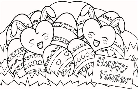 Color Pages Easter by Happy Easter Coloring Pages For Free