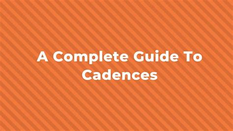 2 this is a preview document and does not contain the whole music theory. A Complete Guide To Cadences | Hello Music Theory