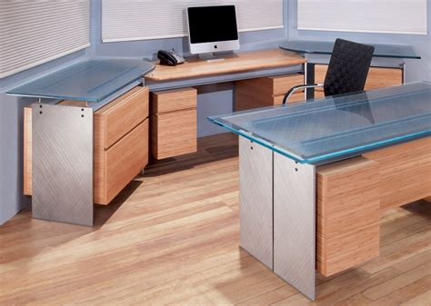modern glass top desk modern executive glass top desk metal and glass desk