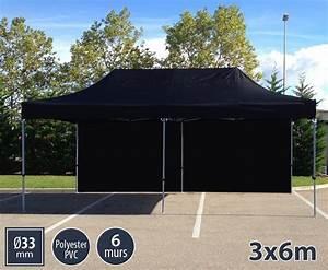 Barnum Pliant 3x6 : barnum 3x6m noir version semi pro pack 6 parois ~ Carolinahurricanesstore.com Idées de Décoration