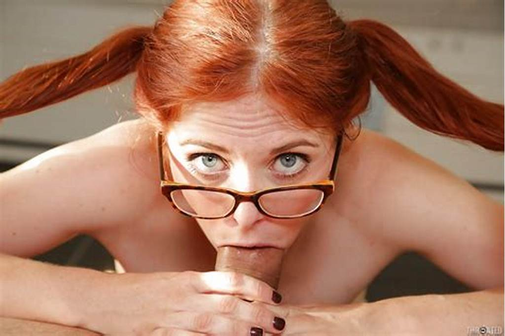 #Awesome #Redhead #In #Glasses #Penny #Is #Giving #A #Deep #Sloppy