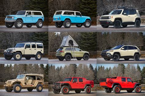 jeep reveals full concept lineup   easter jeep