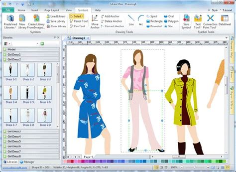fitinlinecom mendesain baju  software edraw max