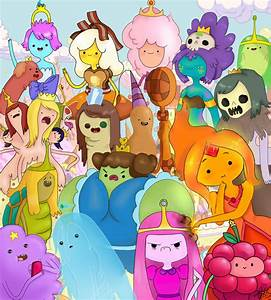 The Princesses of Adventure Time by VvibrantcolorsS on ...