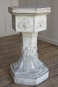 Reclaimed Church Wooden Plinth In The Style Of A Font
