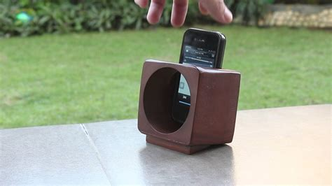 passive amplified wooden speaker box iphone android phone