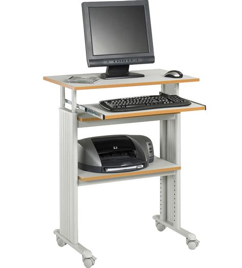 stand up computer stand for desk stand up computer desk in computer and laptop carts