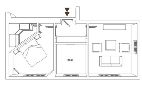 Planimetria Da Letto - suites hotel