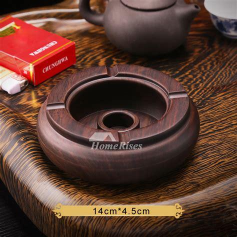 unique ashtrays wooden carved brown antique  sale designer