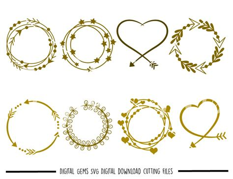 Check out our list of free svg & png downloads! Monogram frames SVG / DXF / EPS / PNG files - SoFontsy