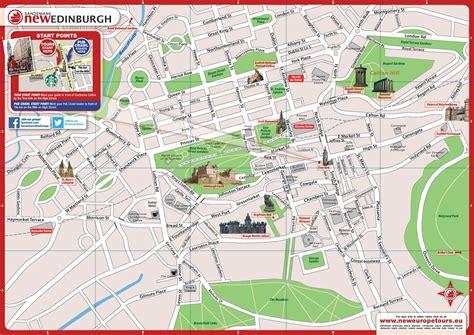 Carte De Touristique à Imprimer by Info Plan Touristique Edimbourg