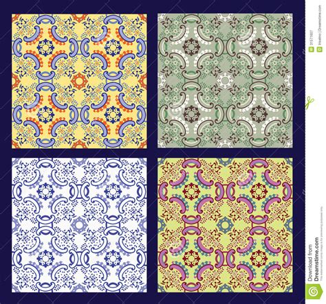 moroccan design tiles set of 4 sicilian tiles royalty free stock photography