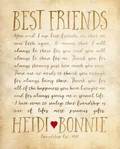 Custom Letter for Best Friend Art, Friendship Poem ...