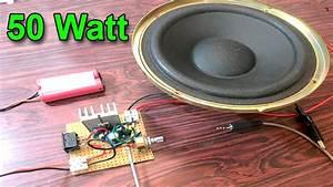 How To Make Easy Amplifier Circuit 50 Watt Using Ic 2003