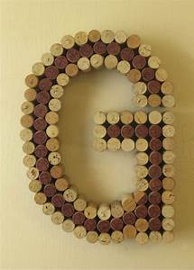 wine cork quotgquot custom cork letters in any font made to With wine cork letter g
