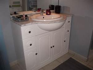 repeindre meuble salle de bain pvc With meuble salle de bain pvc