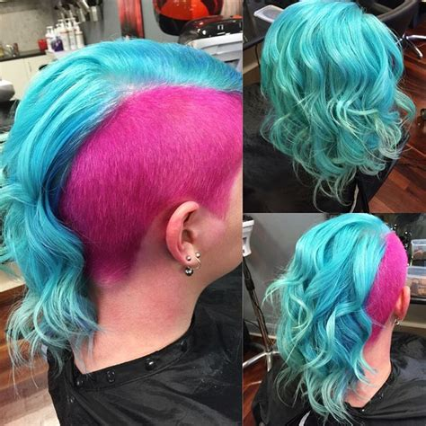 Mermaid Hair In Turquoise With Pink Hair Colors Ideas