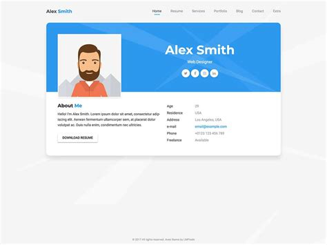 vcard wordpress themes  athemes