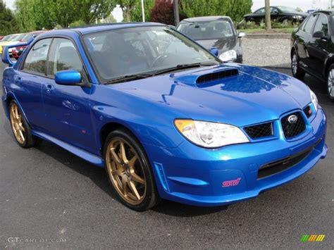 subaru wrx custom blue 2007 wr blue pearl subaru impreza wrx sti 29138078