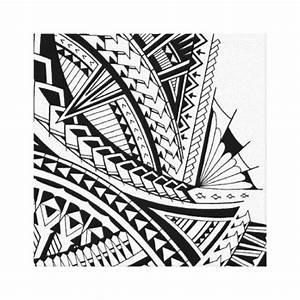 Samoan tribal tattoo art canvas print